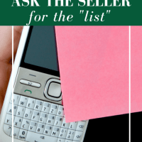 "Ask the seller for his ""list"""