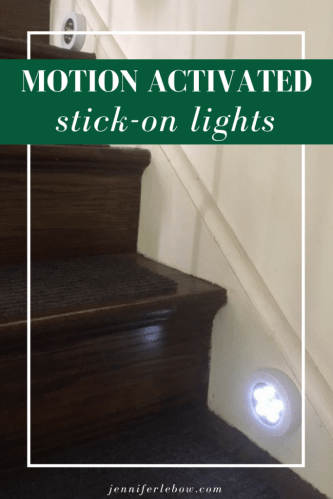 Motion-Activated Stair Lights