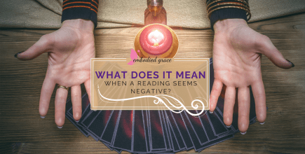 What does it mean when a reading seems negative?