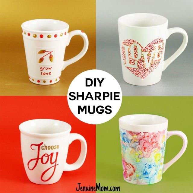DIY Sharpie Mugs for Easy Personalized Gifts - Jennifer Maker