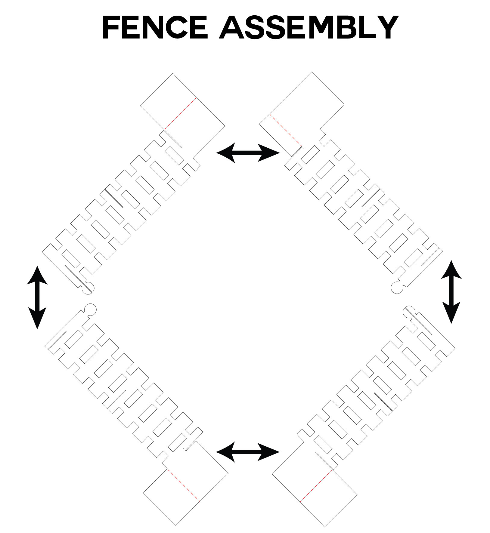Pop Up Apple Tree Card Fence Diagram