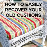 How To Recover Your Outdoor Cushions Quick Easy Jennifer