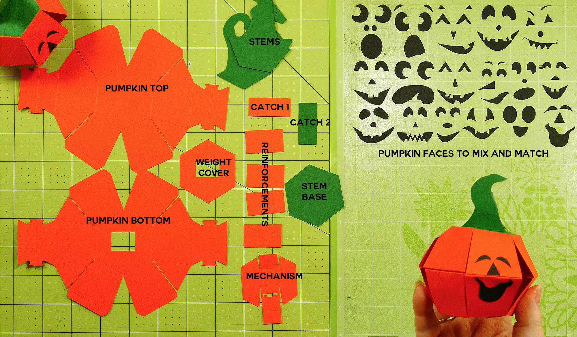 Pumpkin Paper Pieces