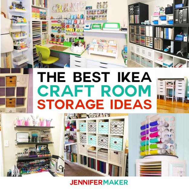 the best ikea craft room storage shelves & ideas - jennifer maker