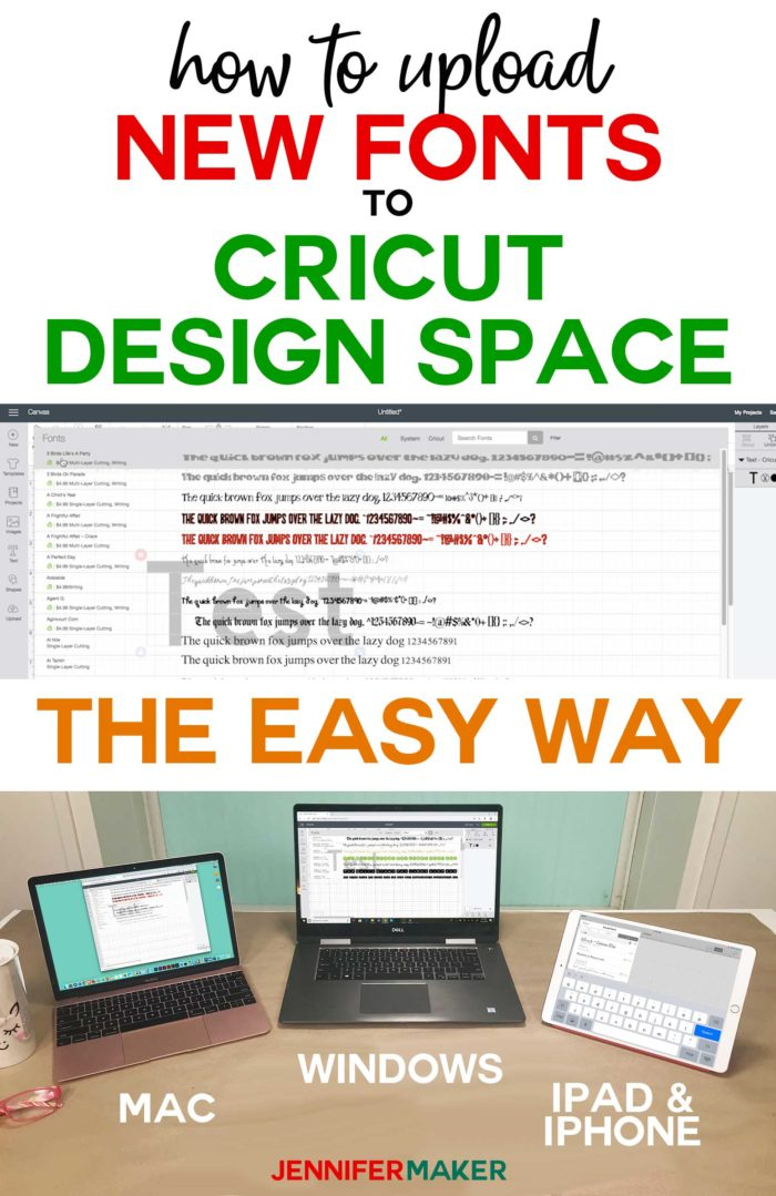 Download How to Upload Fonts to Cricut Design Space - Jennifer Maker