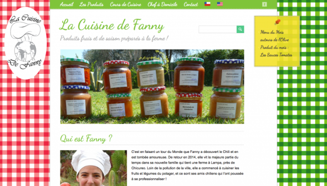 Site internet de La Cuisine de Fanny