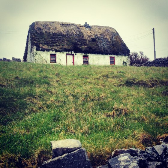 Thatched roof on Inishmore