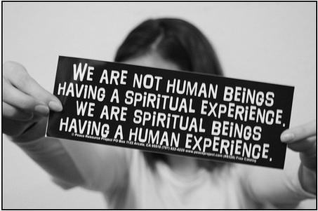 Spiritual beings having human experiences