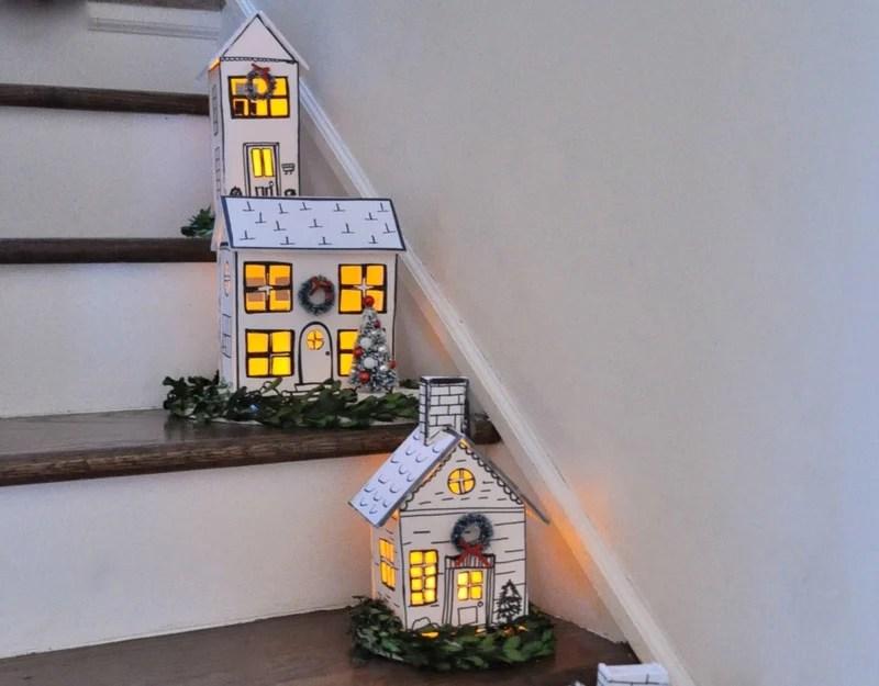 Hand Made Foam Core Sharpie DIY Holiday Houses Jennifer