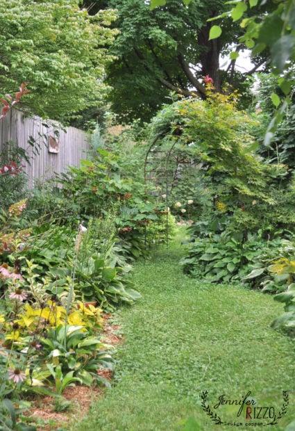 Garden path in early fall