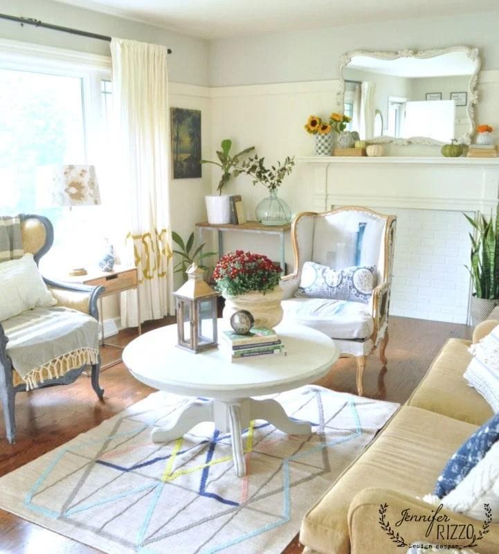 Simple Fall living room decor - Jennifer Rizzo on Modern Boho Room  id=52271