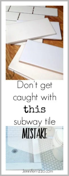 Don't make this subway tile mistake when choosing your white subway tile for your bathroom or kitchen