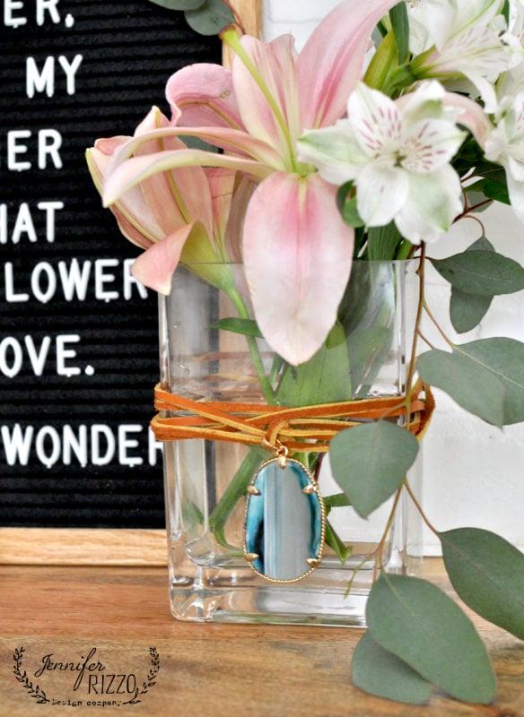 Make aboho embellished vase for Mother's Day