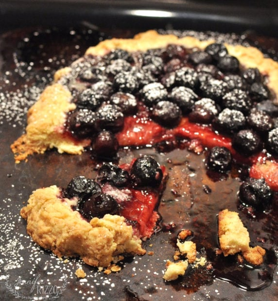 Delicious rustic cherry tart recipe. If you love pie, you'll love this recipe!