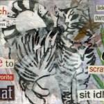 ATC Artwork - Acrylic Gesso Transfer Collage by Jennifer Shipley