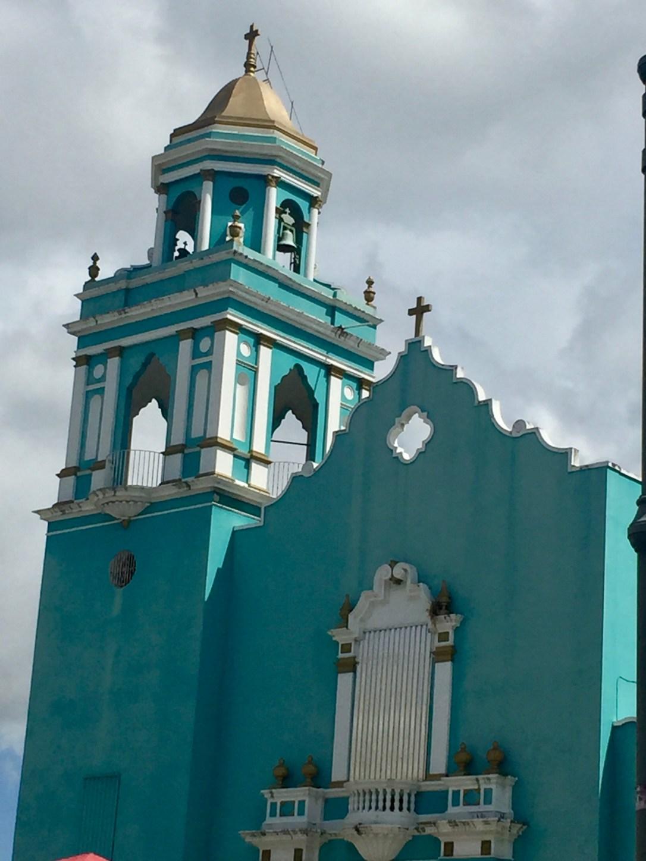 turquoise church