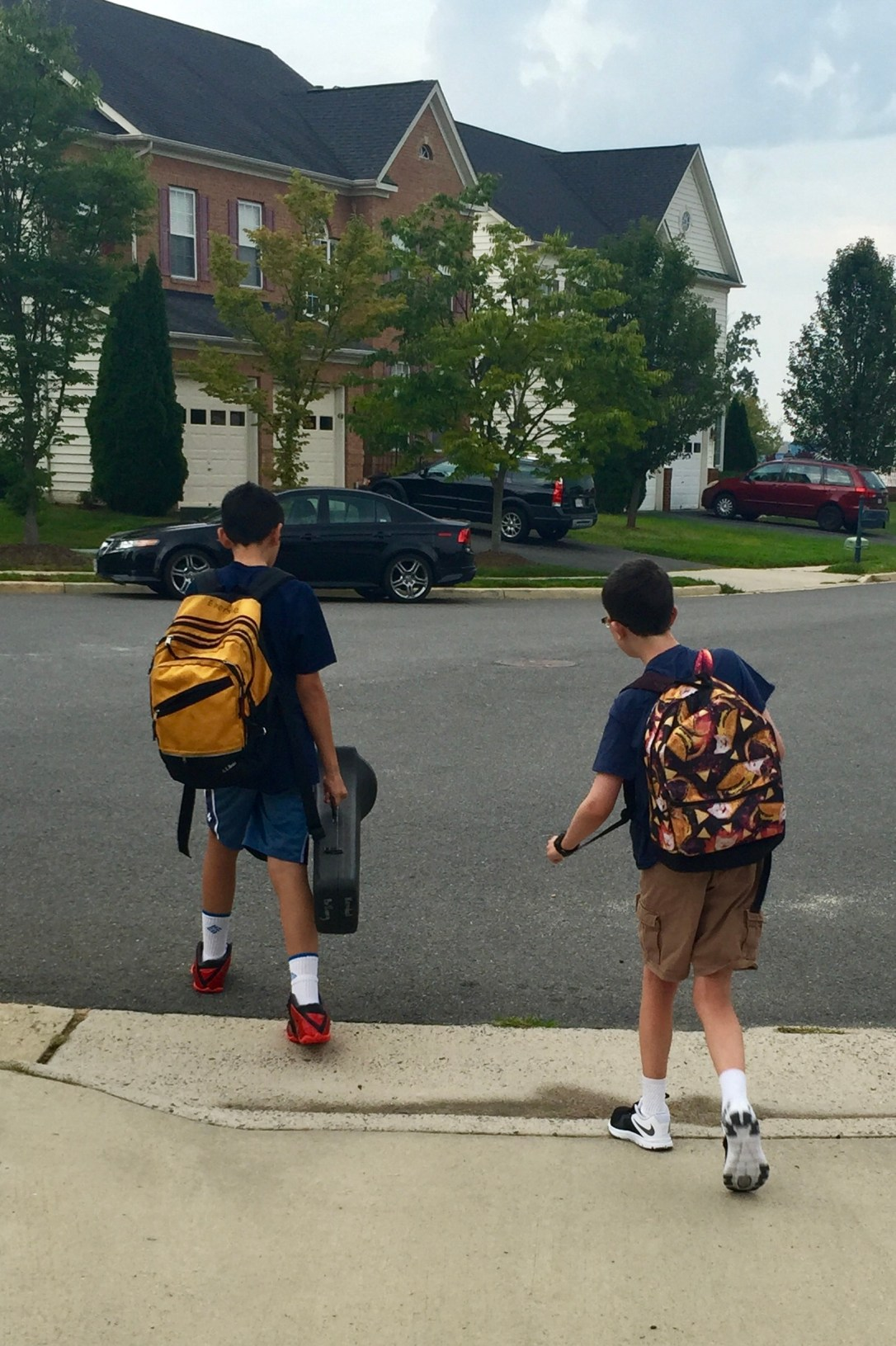 Liam and Alex first day of school