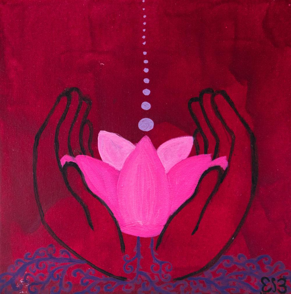 Lotus Blossom 2014 Acylic on Canvas