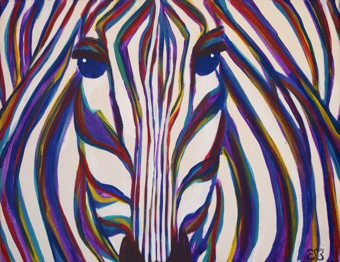 Zebra 2012 Acylic on Canvas