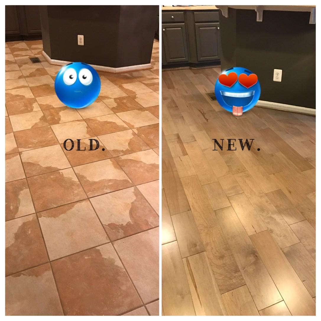 old floor new floor