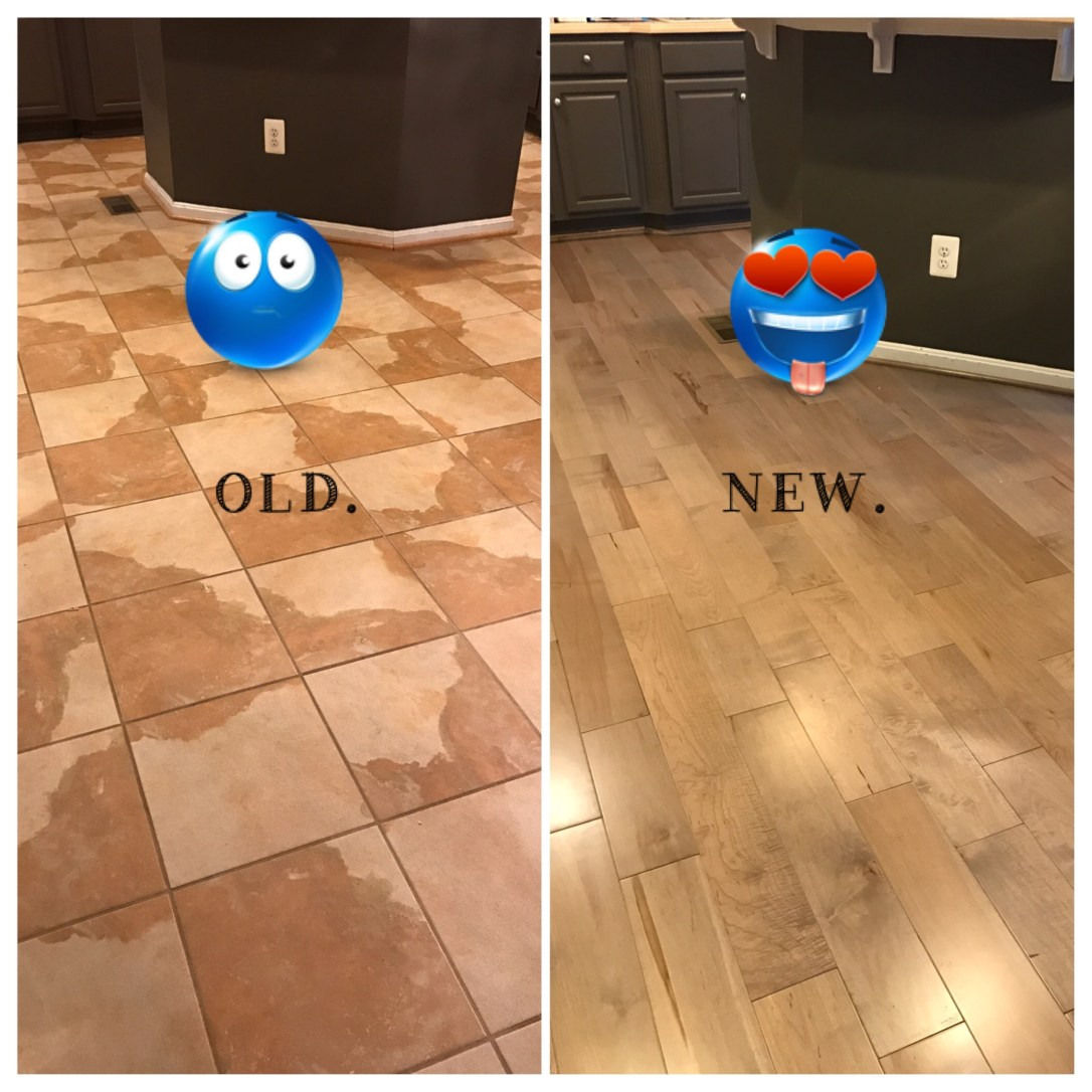 old floor new floor