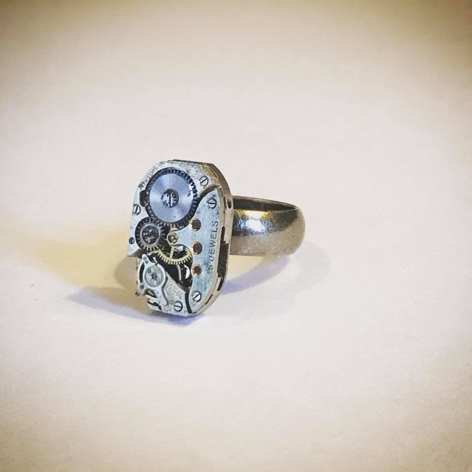 vintage key watch part ring