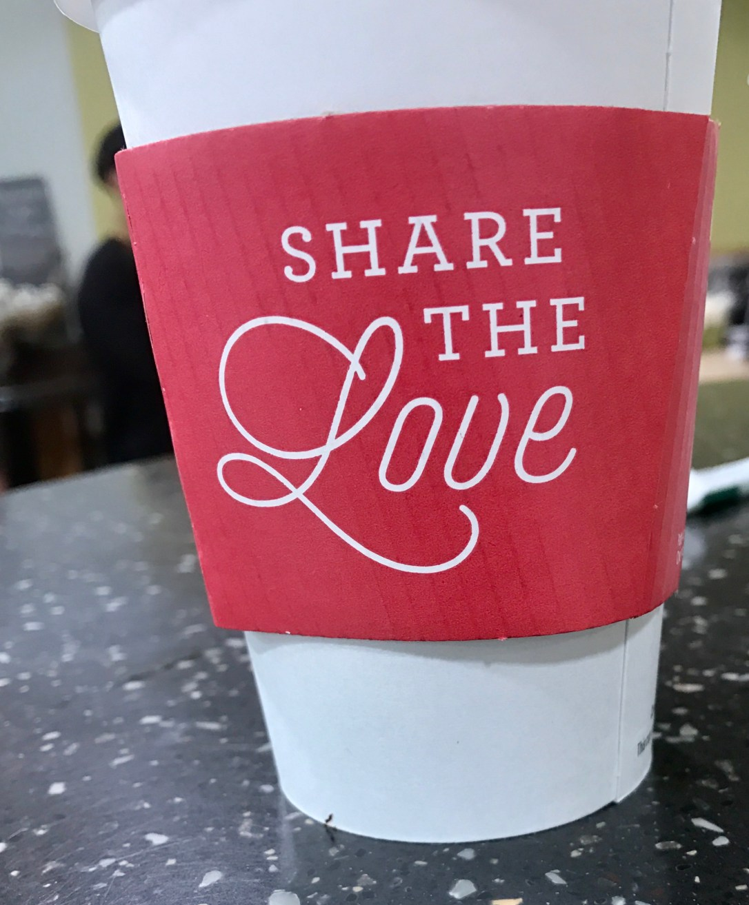 Share the love starbucks cup