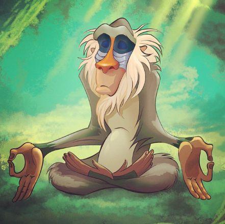 rafiki meditating