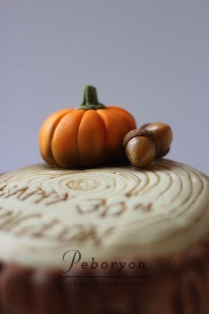 pumpkin cake top