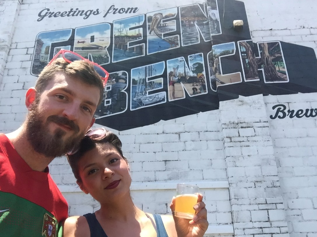 Denise and boyfriend at brewery