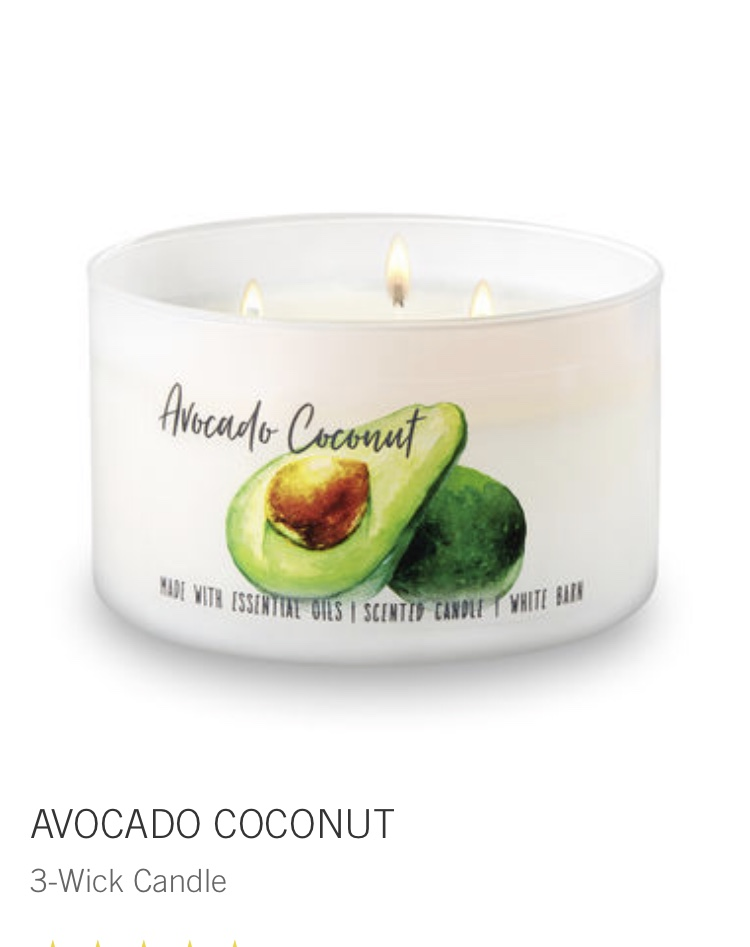 bath and body - avocado coconut