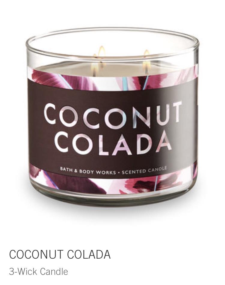 bath and body - coconut colada