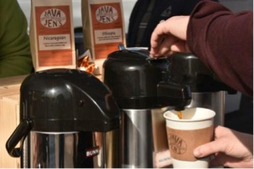 Java Jens coffee at farmers market