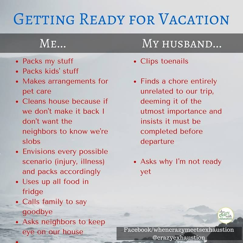 getting ready for vacation meme