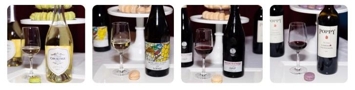 macaron and wine pairing photos by Sandrine