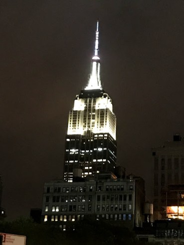 Empire state building white lights