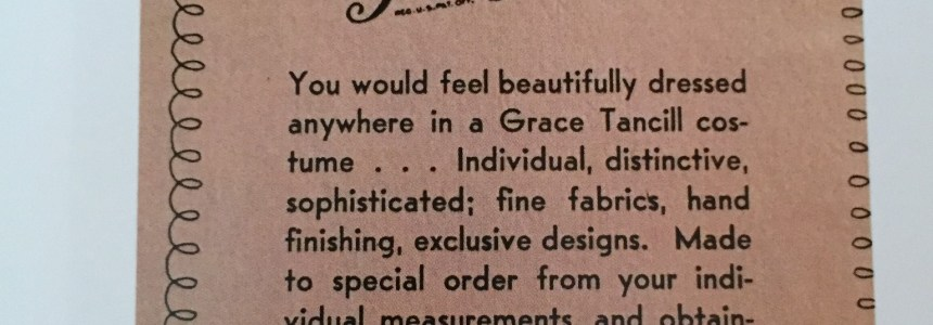My Great-Grandmother Was A Dress Designer
