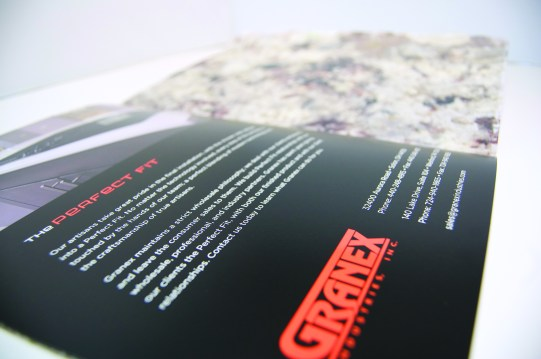 Brochure inside detail