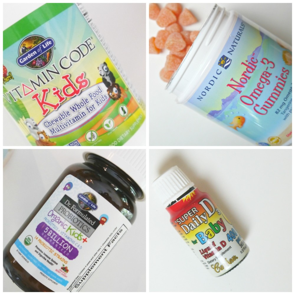 supplements for kids Collage