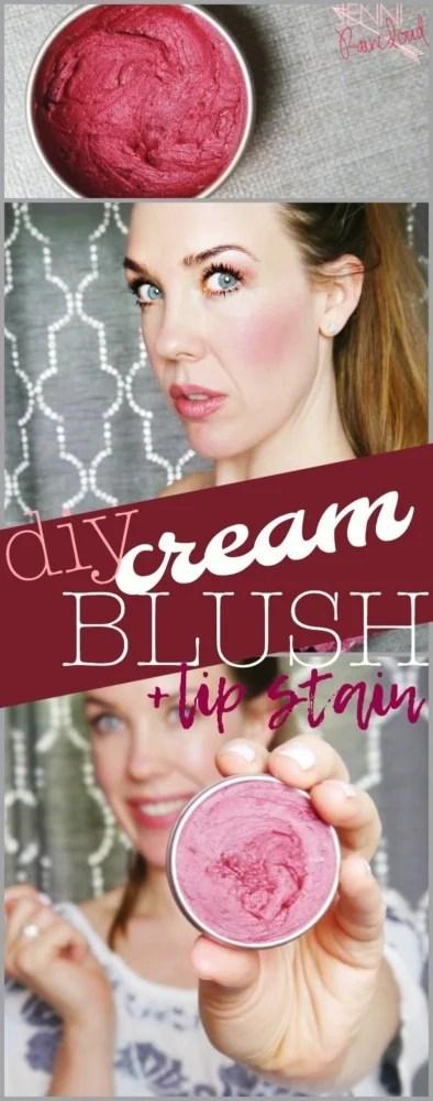 DIY Cream Blush and Lip Stain
