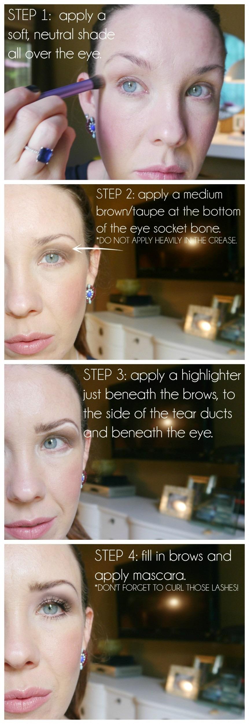 Hooded eye droopy eye makeup tutorial