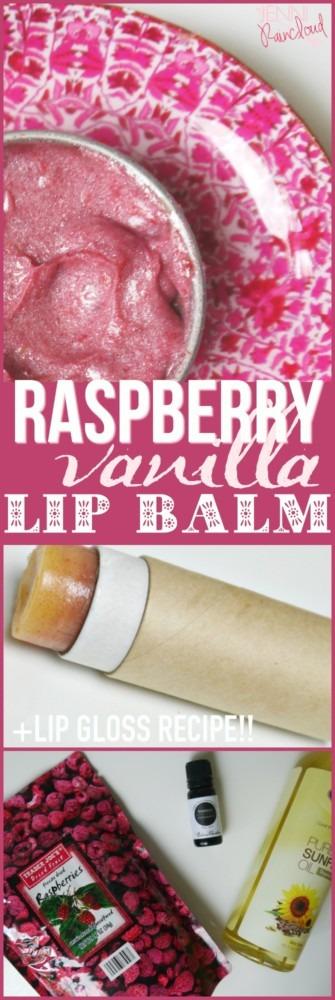 DIY Raspberry Vanilla Lip Balm