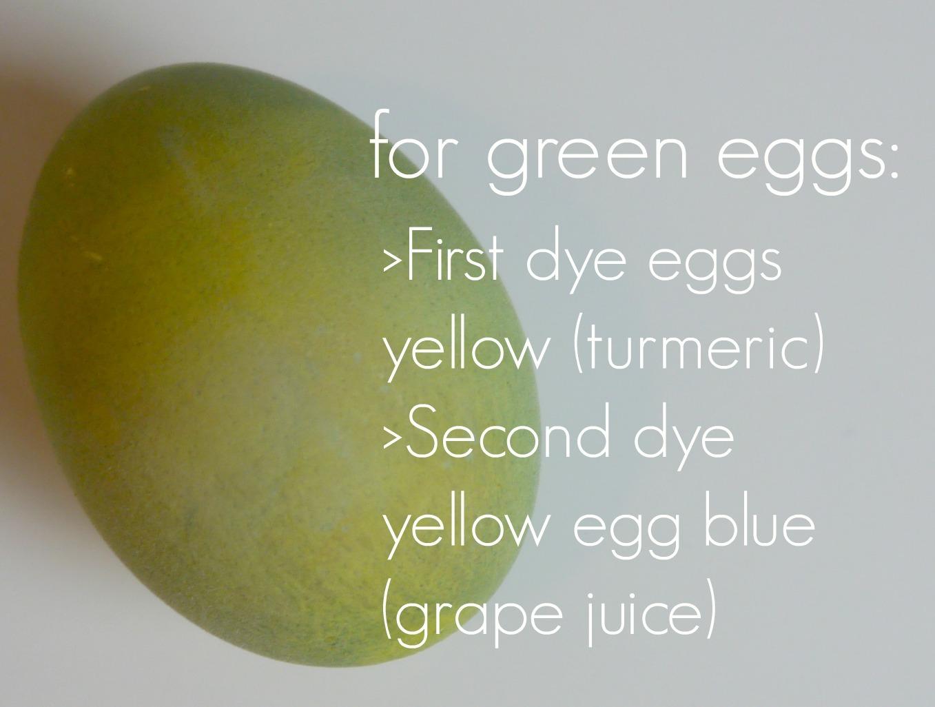 Natrual Easter Egg dye