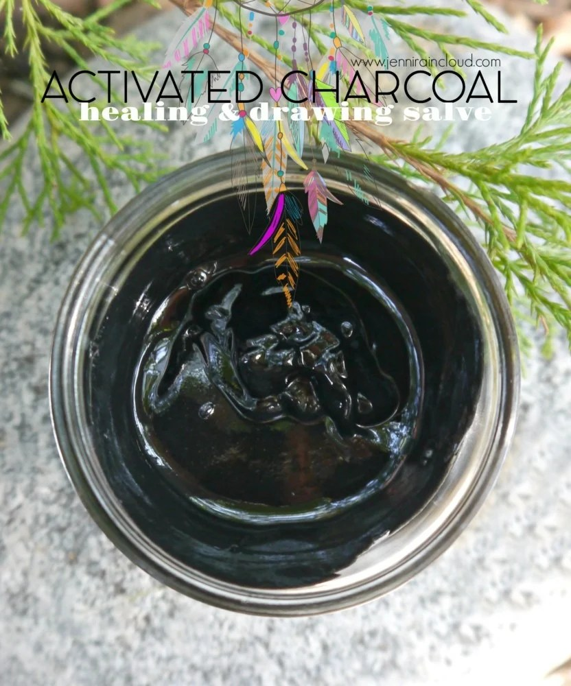 DIY Activated Charcoal Drawing and healing Salve