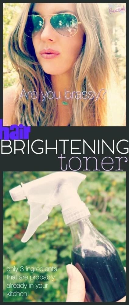 DIY Hair Brightening Toner