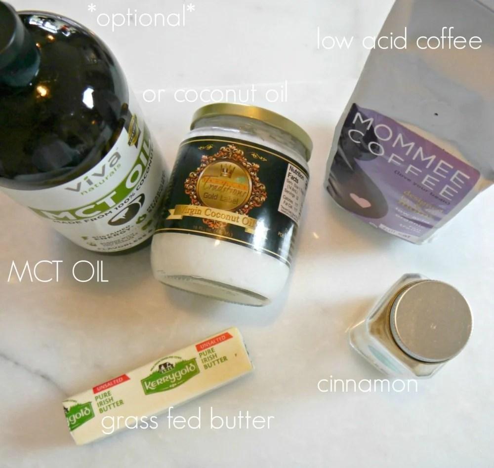 Bulletproof coffee ingredients