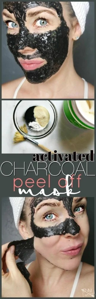 Activated Charcoal Peel Off Mask DIY