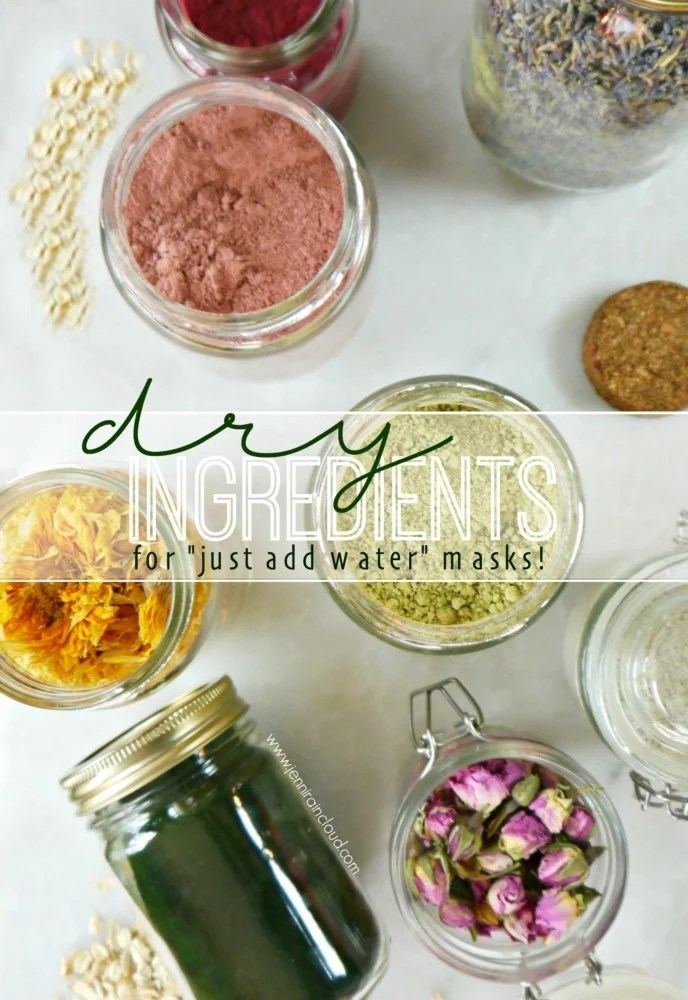Dry Masks Natural Ingredients