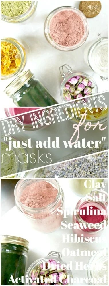 Dry Ingredients for face masks