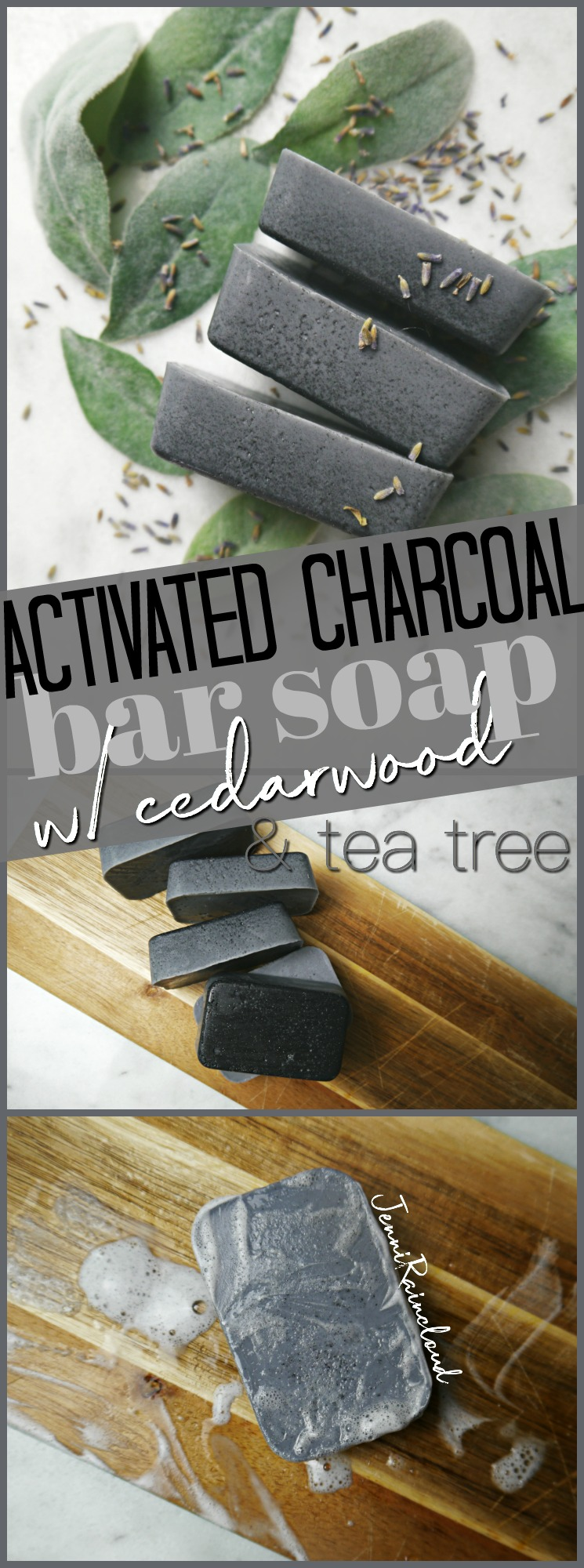 DIY Activated Charcoal Bar soap